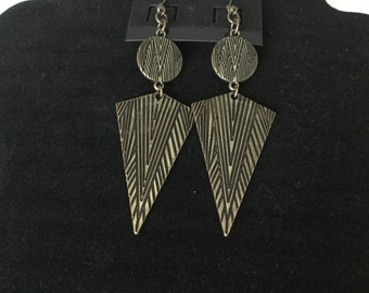 Grey Metal Earrings