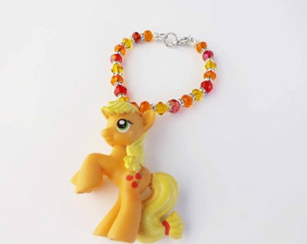 My Little Pony Applejack theme crystal bracelet