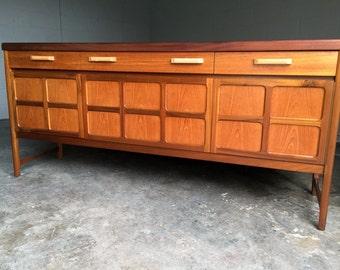 Mid Century Dresser Nathan Sideboard Credenza Buffet Bar