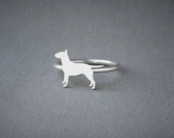 BULL TERRIER RING / Bull Terrier Ring / Silver Dog Ring / Dog Breed Ring / Silver, Gold Plated or Rose Plated.