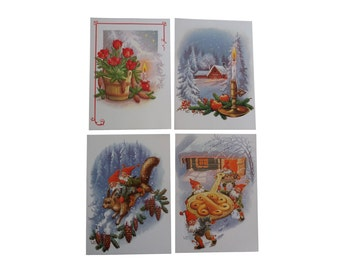 20 Pcs Lars Carlsson Vintage Christmas Cards