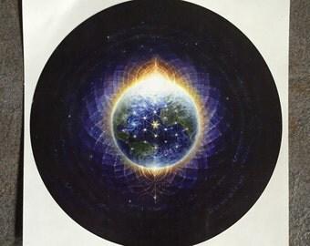 "Healing 6"" inch ROUND STICKER of painting by Autumn Skye ART"