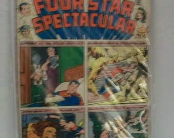1976 Four Star Spectacular  #1 Giant Superboy, Golden Age Flash, Hawkman, Wonder Woman   Fair-Good Condition Vintage Comic Book All Reprints