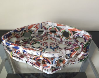 Handmade Recycled Paper Basket Tray NEW