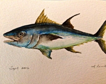 Colorful Hand painted tuna
