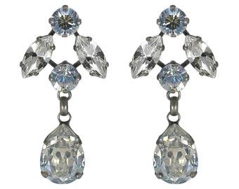 Drop Earring Swarovski Dangle Earrings Blue Earrings Wedding Earrings Bridel Jewelry Bridel Earrings Wedding Jewelry Crystal Earrings