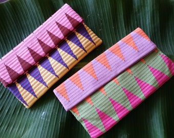 Colorful Balinese Hand Woven Ikat Clutches
