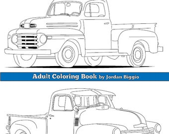 classic trucks adult coloring book colouring - Coloring Book Truck