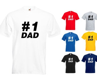 Number One #1 Dad  Mens/Adults Novelty Classic Fit Tshirt - Funny/Gift/Joke/Father's Day
