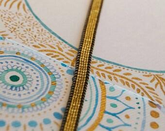 Doubble Wrap Tiny Gold Seed Bead Bracelet