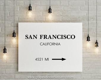 San Francisco art, San francisco print, San Francisco, travel poster, California art,Modern Minimalist, scandinavian modern, office décor