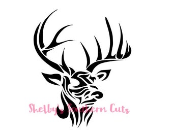 Tribal Deer SVG file