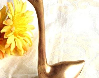 ON SALE Brass Swan, Vintage Brass Swan, Home Decor, Decorative Brass Swan, Vintage Decor, Retro Brass Decor