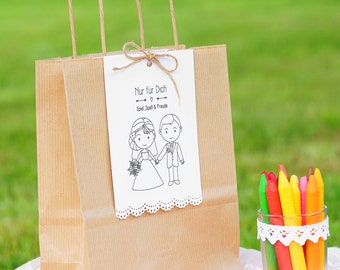 Children bag to the self-filling to the wedding theme