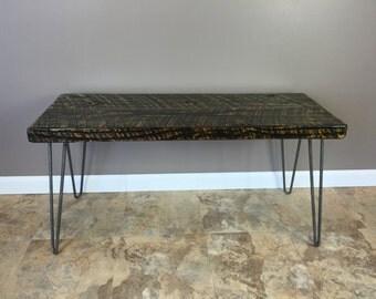Coffee Table, Handmade, Furniture, Reclaimed-Urban, Wood, Hairpin, Legs