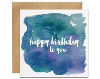 Happy Birthday To You Greeting Card | Made In Australia