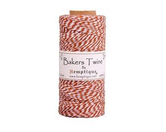 Brown & White Bakers Twine Spool