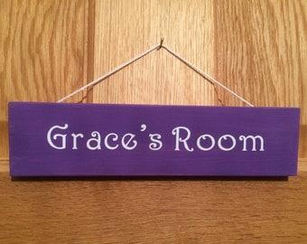 Bedroom door signs