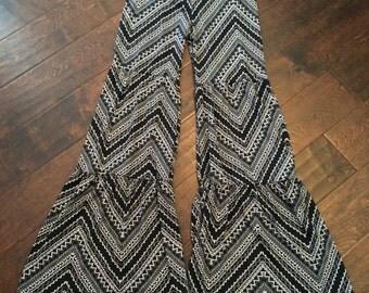 Ruffle Me Down Pants- Black