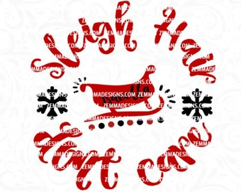 sleigh svg - sleigh hair svg - Christmas svg files - svg christmas - holiday svg - Christmas shirt svg - Shirt svg - t shirt - Zemma Designs