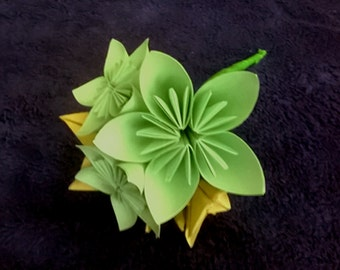 Small bouquet of origami flowers, Origami bouquet, bouquets of paper flowers, bouquet kusudama