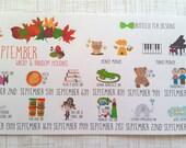 September Wacky & Random Holidays (Set of 16) Item #273