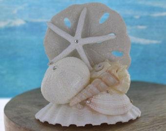 Starfish Beach Wedding Cake Top / Coastal Wedding / Shell Topper