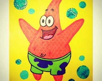 My Rendition of Patrick Star from SpongeBob Squarepants Canvas