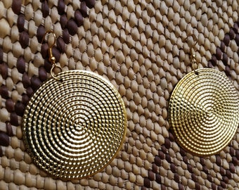 African Stunning Gold Earrings / Made In Kenya