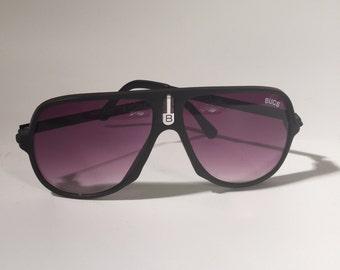 Vintage Black Aviator Plastic Sunglasses Retro NCNB Bucs