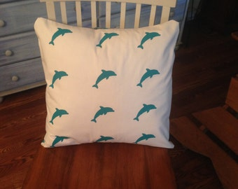 Miami Dolphins hand painted 18x18