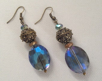 Elegant Drop Earrings with Bali Beads