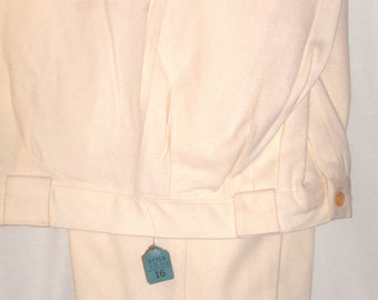 Off White Pants with Belt Loops Size 16