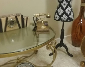 Beautiful vintage cradle style telephone,made of onyx in Italy.