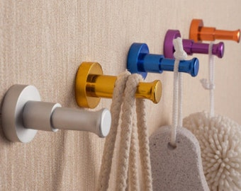 Colorful Hook Decorative Hooks / Wall Hooks Metal Hooks Coat Hangers Wall Towel Hanger / Red Yellow Blue Purple White Black Orange Green