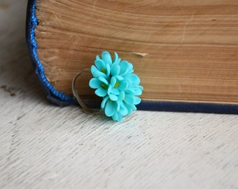 mint lilac ring, mint ring, mint jewelry, mint flower ring, my crafts online, mint wedding, handmade ring, handmade jewellery for sale
