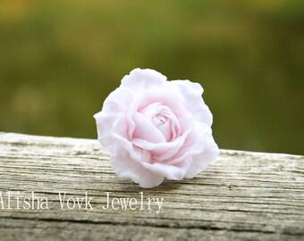 Tender rose ring, romantic ring, pastel pink jewelry, pastel pink ring, pastel pink, ring, soft pastels ring, soft pastels jewelry