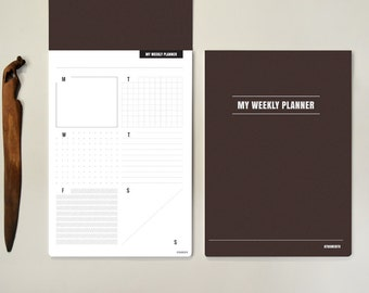 My weekly planner A4 - brown cover