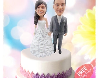 Adorable cake toppers Personalised cake toppers Unique wedding cake toppers Custom cake toppers Bride and groom cake toppers Wedding toppers
