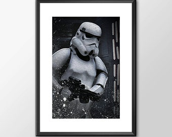 Stormtrooper - Star wars inspired Print - BUY 2 Get 1 FREE