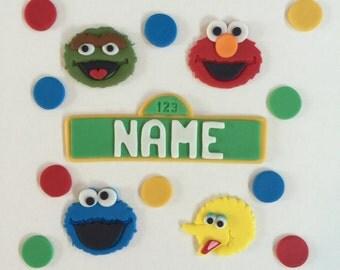Sesame Street Cake Topper Kit Characters-Fondant