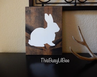 Bunny Silhouette~Easter Sign