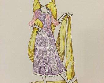 Rapunzel Doodle Print
