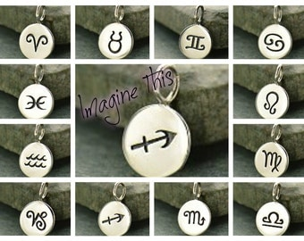Sterling Silver Astrological Charms, Zodiac Astrology Pendants, DIY Jewelry, Jewelry Supplies!