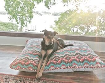 Tribal Print Dog Bed // Designer Pet Beds // Dog Beds with Water Resistant Bottom // Indoor Pet Bed // Outdoor Dog Beds // Made in USA