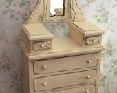RESERVED..Miniature Highboy, Miniature Furniture, Dollhouse Furniture, Dollhouse Highboy