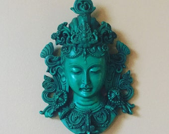 Imported Shiva Handcarved Wall Statue - from Nepal
