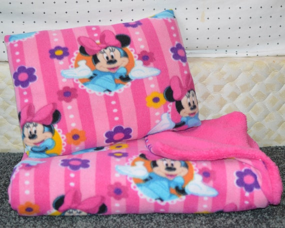 Minnie Throw And Pillow Set : Minnie Mouse Blanket Minnie Blanket Minnie Blanket Blue