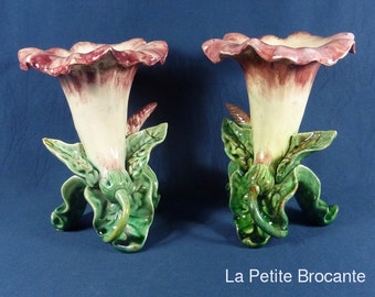 Pair of flower containers slip