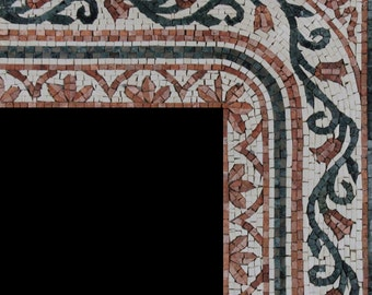 Beautiful Border Corner Mirror Frame Home Design Marble Mosaic BD93
